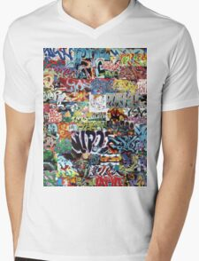 Old school graffiti mix N°1 Mens V-Neck T-Shirt