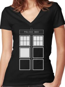 Feel like a police box Women's Fitted V-Neck T-Shirt