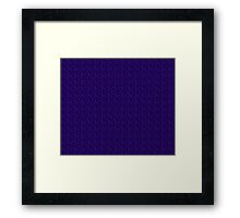 Cool Blue Ribbon Design Framed Print