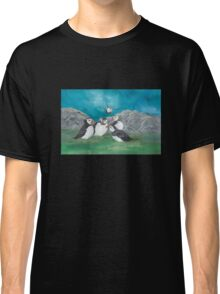 """Puffin Party"" Classic T-Shirt"
