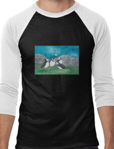"""Puffin Party"" Men's Baseball ¾ T-Shirt"