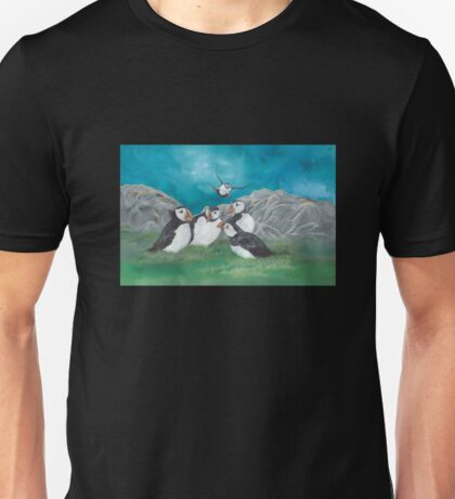 """""""Puffin Party"""" Unisex T-Shirt"""