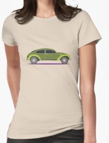 green car Womens Fitted T-Shirt