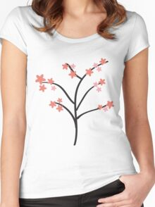 Cherry Blossom Women's Fitted Scoop T-Shirt