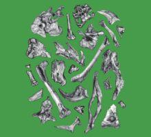 dinosaur skeleton bones One Piece - Short Sleeve