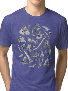 dinosaur skeleton bones Tri-blend T-Shirt
