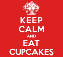 Keep Calm and Eat Cupcakes - white type One Piece - Long Sleeve