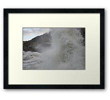 Huge Wave Framed Print