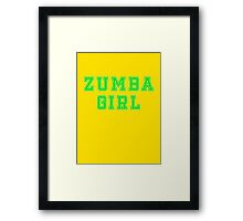 Zumba T-Shirt - Dance Clothing Framed Print