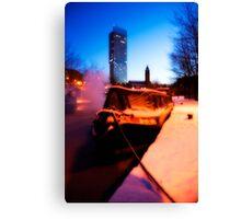 Winter Barge Canvas Print