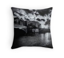 Barker tower sunset Throw Pillow