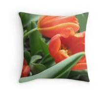 Waltzing Tulips Throw Pillow