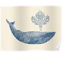 Damask Whale  Poster