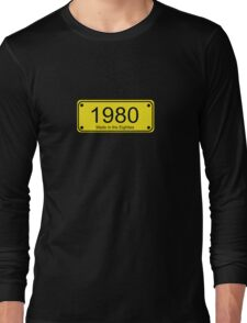 Made in the 1980s Number License Plate T-Shirt ~ Born in the Eighties Long Sleeve T-Shirt