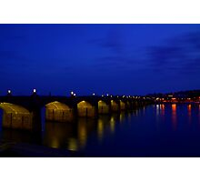 Market Street Bridge-Harrisburg, PA Photographic Print