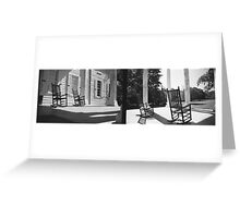 Plantation porch, South Carolina Greeting Card