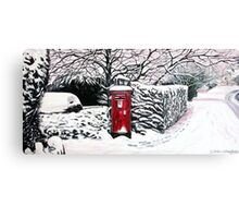 The Red Post Box  Canvas Print