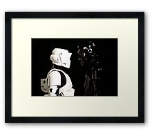 Face Off - Storm Troupers Framed Print