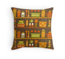 Lets Cook at Home Throw Pillow