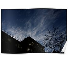 sky over 22nd st, nyc Poster