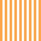 Orange and White Striped Throw Pillow by Natalie Kinnear