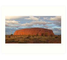Uluru (also known as Ayers Rock) sunset - central australia Art Print