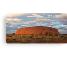 Uluru (also known as Ayers Rock) sunset - central australia Canvas Print