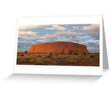 Uluru (also known as Ayers Rock) sunset - central australia Greeting Card