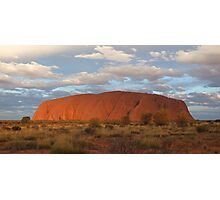 Uluru (also known as Ayers Rock) sunset - central australia Photographic Print