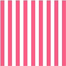 Pink and White Striped Throw Pillow by Natalie Kinnear