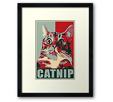 Catnip, not even once! Framed Print