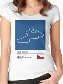 Brno Circuit Women's Fitted Scoop T-Shirt