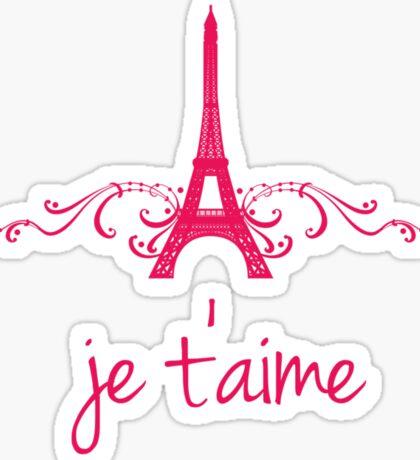 Pink Vintage French Flourish Sticker
