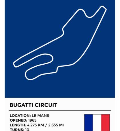 Bugatti Circuit - v2 Sticker