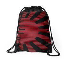 Black modern Japan Flag Drawstring Bag