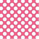 Pink with White Polka Dots Throw Pillow by Natalie Kinnear