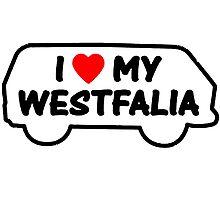 T3 westfalia logo Photographic Print