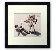 """Revenge with a Stitch Ripper."" Framed Print"