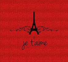 Red Vintage French Flourish by superstarbing