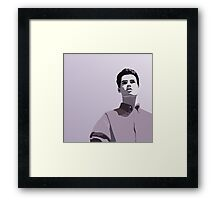 Model Man A (Purple Hue) Framed Print