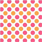 Pink and Orange Polka Dots Throw Pillow by Natalie Kinnear