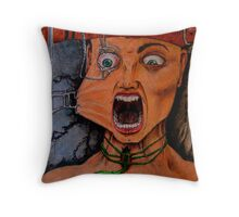"""DON'T TAKE MY VOICE! PLEASE, NO!"" Throw Pillow"