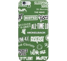 Bands, green iPhone Case/Skin