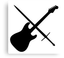 Guitar & Sword Canvas Print