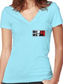 2000AD Rogue Trooper BioChip Women's Fitted V-Neck T-Shirt