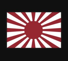 War flag, Imperial Japanese Army, Japan, WWII, on Black by TOM HILL - Designer