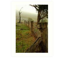 Wet Damp Cowbaw Morning, Macendon Ranges Art Print