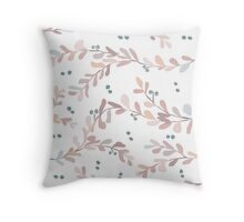 Pastel Leaves Throw Pillow