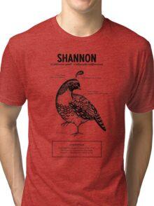 A quail named Shannon Tri-blend T-Shirt