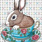 Bunny Teacup by Drawstring